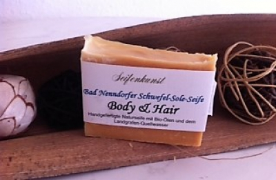 Schwefel-Sole-Seife BODY & HAIR , vegane Seife